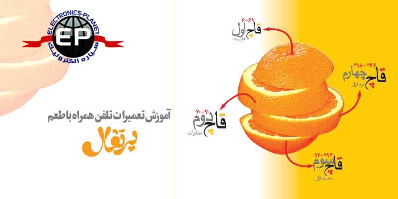 آموزش تعمیرات تلفن همراه با طعم پرتقال