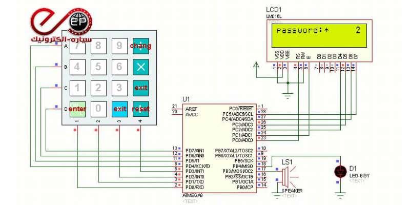 پروژه ساخت قفل رمزی دیجیتال
