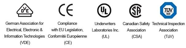 نشانه ها و نمادهای امنیتی مورد استفاده در مولتی مترها