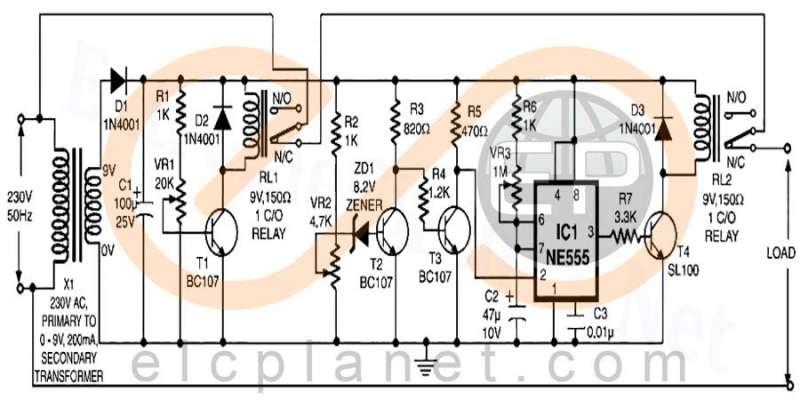 مدار محافظ وسایل برقی - مداری برای محافظت از وسایل برقی و الکترونیکی در برابر نوسانات ولتاژ