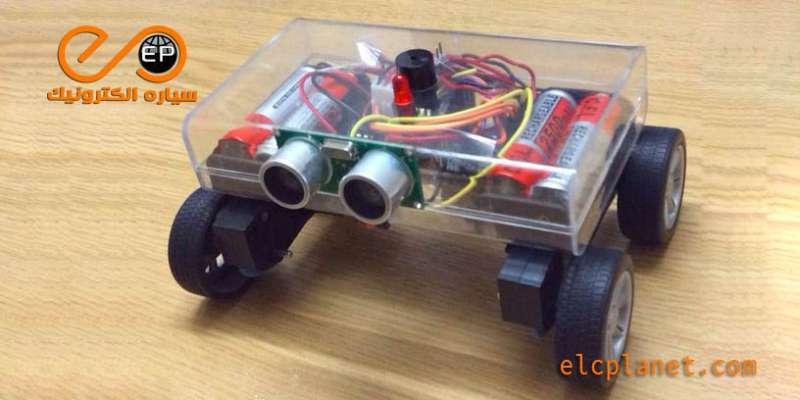 ربات تشخیص مانع با آردوینو و سنسور مافوق صوت
