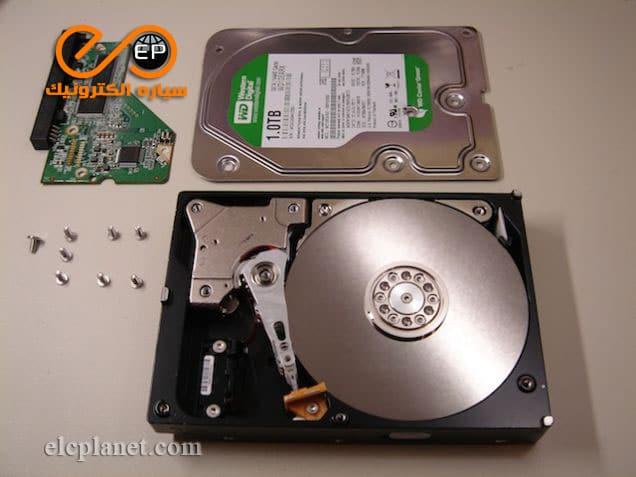 اجزای اصلی هارد دیسک