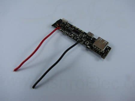 اتصال سیم باتری به ماژول پاوربانک