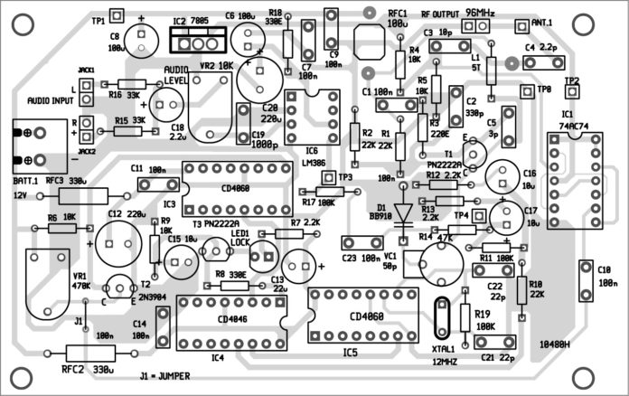 محل نصب قطعات مدار فرستنده اف ام با کیفیت بالا