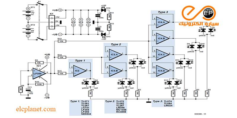 مدار تستر آپ آمپ - تست سریع تقویت کننده های عملیاتی
