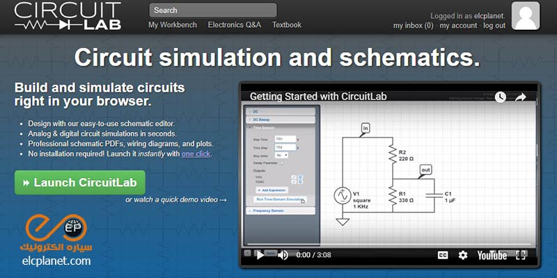 شبیه سازی آنلاین مدارهای الکترونیکی - سایت Circuitlab