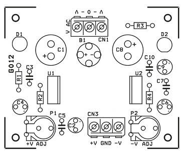 راهنمای نصب قطعات منبع تغذیه قابل تنظیم 1.2 تا 37 ولت 1.5 آمپر با خروجی دوگانه