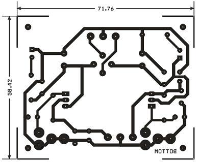 مدار چاپی منبع تغذیه قابل تنظیم 1.2 تا 37 ولت 1.5 آمپر با خروجی دوگانه