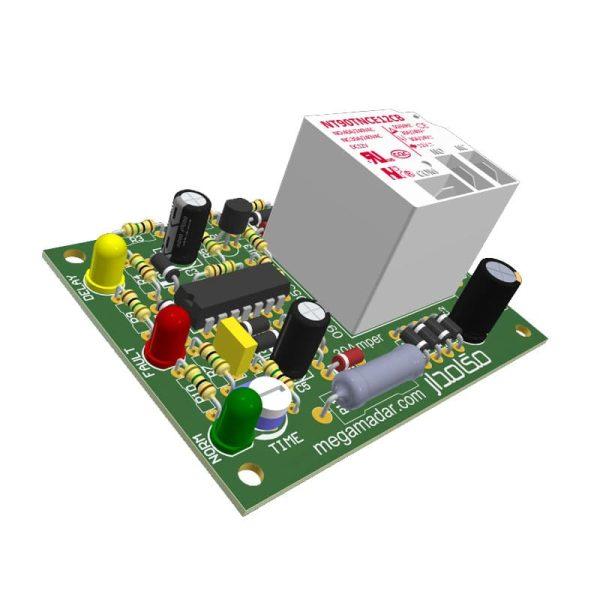 آموزش ساخت مدار محافظ برق 30 آمپر با تنظیم زمان تأخیر
