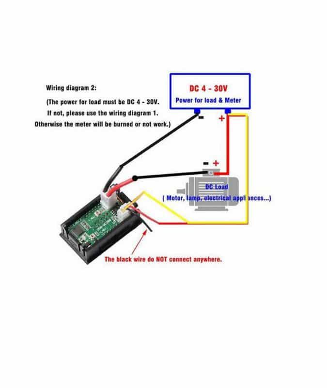 ماژول ولتمتر و آمپرمتر پنلی 0 تا 100 ولت و 0 تا 10 آمپر مدل VC-288