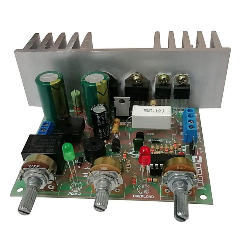 کیت منبع تغذیه متغیر آزمایشگاهی مدل PSU-103 - نمای روبرو